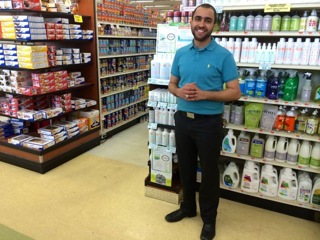 "Key Food store manager Zayed ""Junior"" Dabashi (photo by S. Hixson)"
