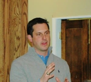 State Sen. Greg Ball at a forum in Cold Spring in early 2012 Photo by L.S. Armstrong