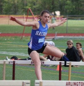 Haldane's Abbey Stowell won the pentathlon event at the Northern Counties Track and Field Championships May 17. (Photo courtesy Theresa Stowell)