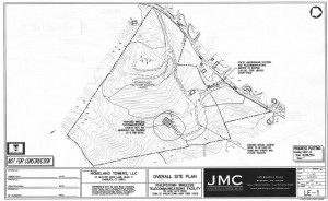 A preliminary site map of the proposed cell tower location; courtesy of Homeland Towers and the Town Board