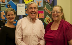 GUFS Superintendent Laura Mitchell, Garrison School Board President Ray O'Rourke and Diana Swinburne, re-elected Garrison School Board member. (Photo by Kevin E. Foley)