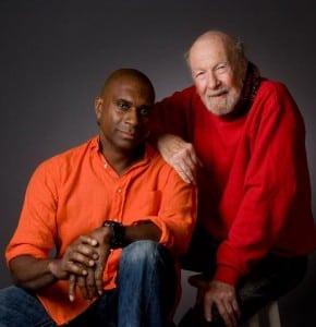 Jeff Haynes with Pete Seeger