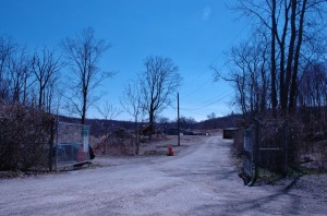 Entrance to the Philipstown landfill-recycling center on Lane Gate Road
