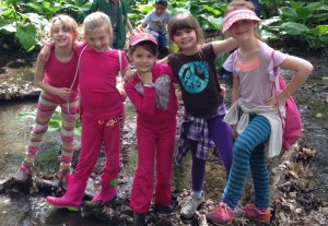 Garrison students explore the School Forest