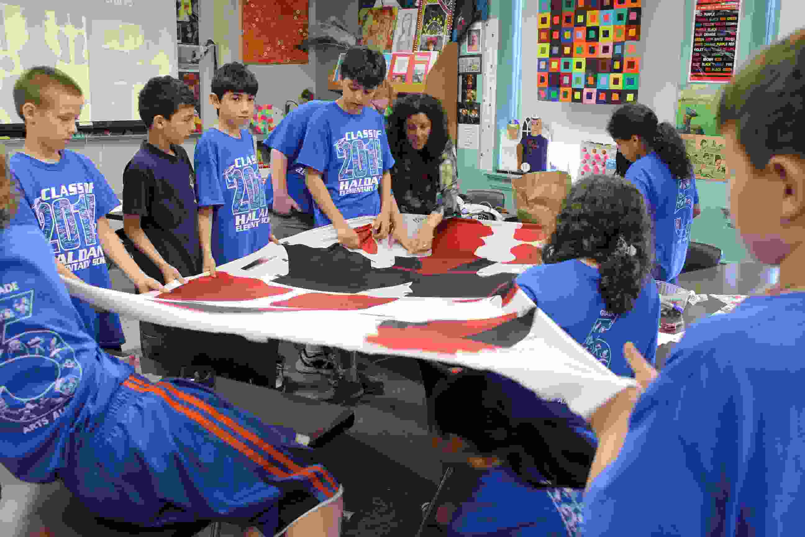 Haldane 5th Grade arts day Textile Design with Dani Locastro one of best images IMG_9895