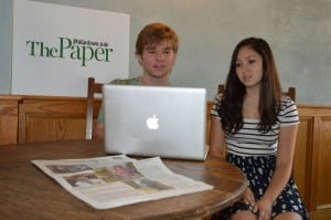 Haldane seniors Clayton Smith and Michelle McEwen, spring interns at The Paper
