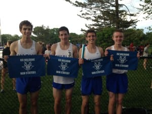 Haldane Varsity Boys' Track 4x800 relay team is on to states! The qualifying meet was held in White Plains on May 30.