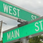 WestStreetwillbecomeonewayfromNorthStreettoMainStreet.ItisalreadyonewayfromMaintoNewStreet. PhotobyM.Turton