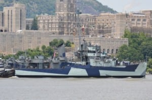The USS Slater sails past the U.S. Military Academy at West Point on June 30. Photo by M. Turton