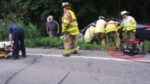 A driver was extracted using the Jaws of Life. Photo courtesy of Joseph Mercurio