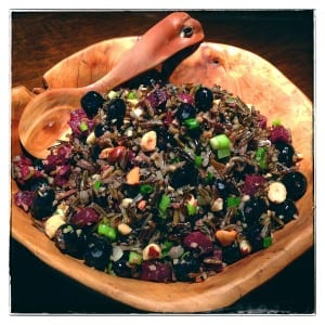 Blueberry, Beet and Wild Rice Salad (Photo by J. Dizney)