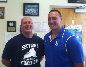 Haldane Athletic Director Tom Cunningham and Blue Devils Varsity Football Head Coach Ryan McConville