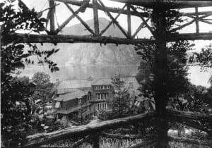 The view from the original pergola in the early 1900s. (Photo collection of Robin Huntington)