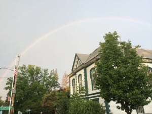 Kelly House captured this rainbow over town hall on Aug. 17 at about 6:45 a.m.