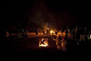 A roaring bonfire at Boscobel (photo provided)