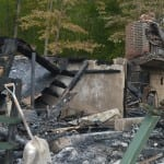 Rubble is all that remains after fire destroyed a house at 720 Route 301 in the early hours of Sunday morning (Sept. 7).