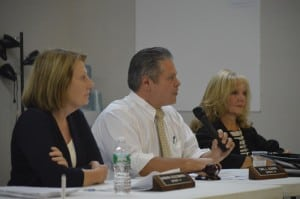 The Putnam County Legislature's Physical Services Committee — from left, Barbara Scuccimarra, Carl L. Albano, chairman, and Ginny Nacerino (photo by M. Turton)