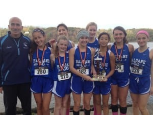 Girls varsity cross-country at the Oct. 25 Harvest Classic at Schodack Island Park (Photo courtesy of Tom Locascio)