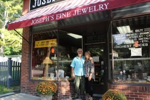 Joe and Bridget Immorlica, at their Main Street business, Joseph's Fine Jewelry.