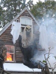 Parrott Halloween Leiter House Snow 2011