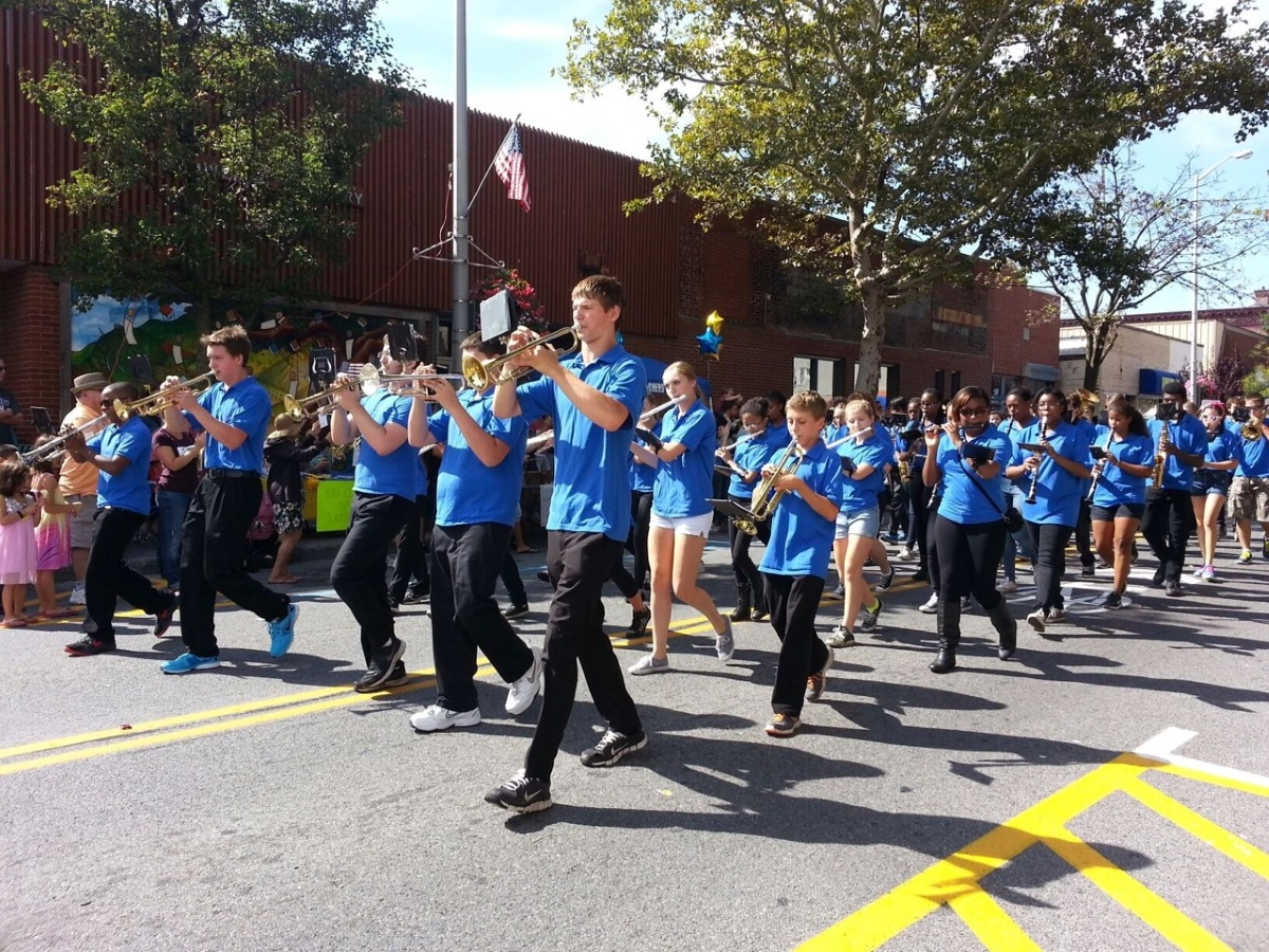 Spirit of Beacon Day marching band