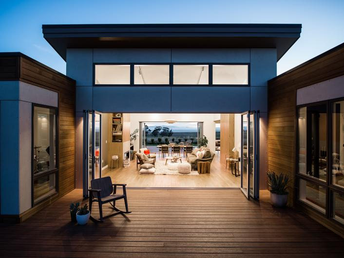 The Deck Of The Blu Homes Design Center In Vallejo, California. The Company  Also