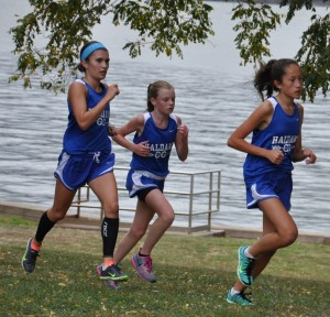 Taylor Farrell, Kate Phillips and Ruby McEwan, Oct. 1 at Croton Point Park Meet (Photo by Peter Farrell)