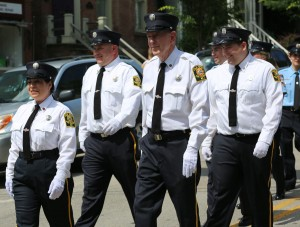 Gordon Stewart, center in the Fourth of July 2013 parade