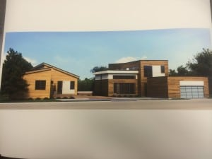 Conceptual drawing of Blu Homes modular models as they might appear on Fair Street in Cold Spring.