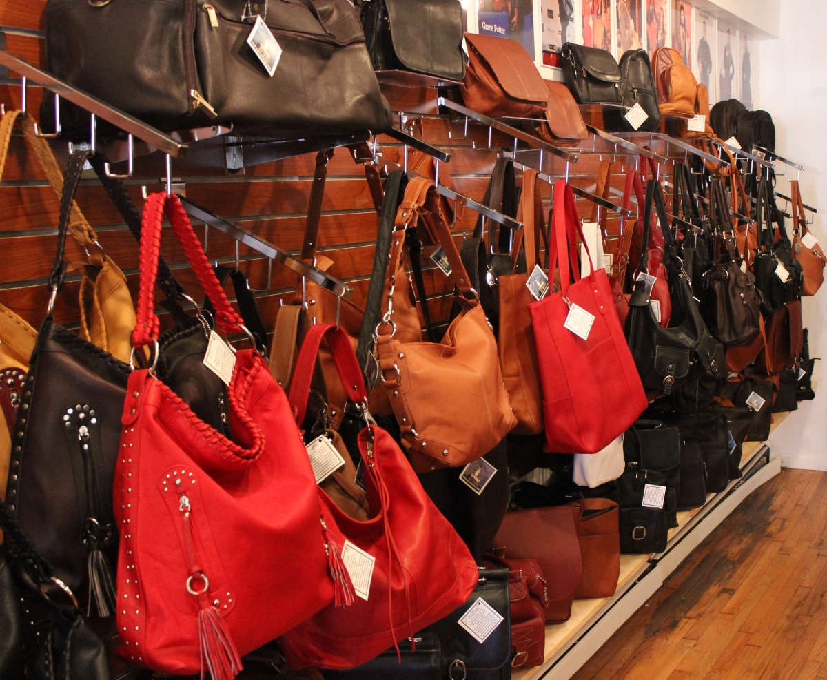 Bags come in a great variety of colors and designs at Cape Cod Leather. ddf57adf44352