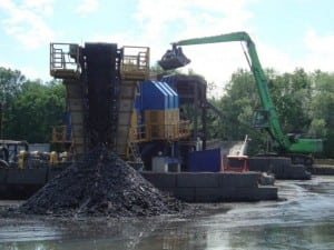 Dredge materials being dumped (Photo by EPA)