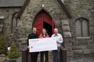 Stewart donates proceeds of The Messiah in 2013 to St. Mary's church and local food pantry