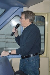 Licensed tour guide Paul Rush provides commentary along the cruise route.