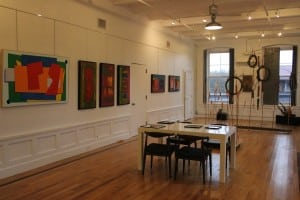 "The Lofts at Beacon Gallery, with artwork from the just-closed exhibit ""40 Years Later"" (Photo by A. Rooney)"