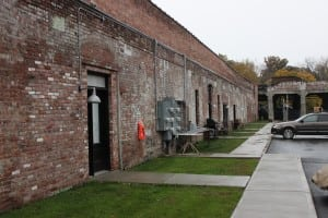 View of some of the reconverted apartments at what was formerly the Groveville Textile Mill (Photo by A. Rooney)