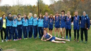 Varsity cross-country wins class D sectionals to advance to states.  (Photo courtesy of Tom Locascio)