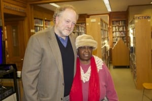 Hamilton Fish with Flora Jones of Beacon, who attended the discussion (photo by K.E. Foley)