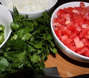 Preparingshakshouka