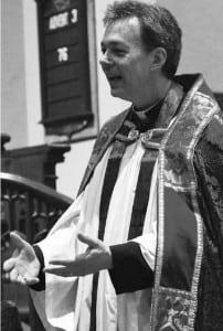 Rev. Shane Scott-Hamblen at the service