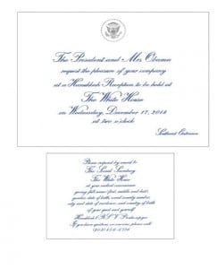 The invitation to the event