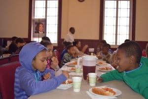 As is the case each year, kids got to have lunch before the adults.