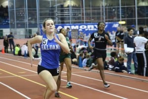 Marina Martin competes in the 300-meter race in New York Jan. 17. (Photo by M. Haines)