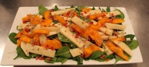 Baby Greens and Persimmon Supper Salad