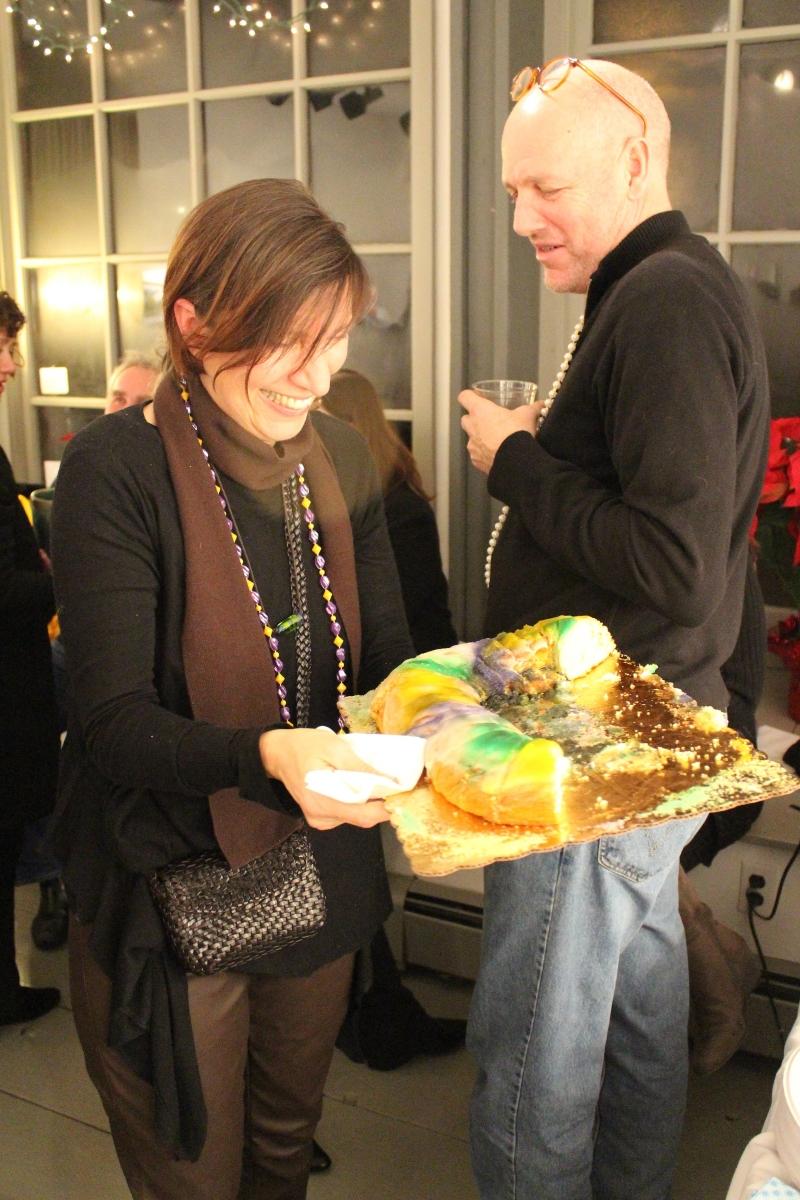 Winter Mardi Gras King Cake