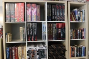 The Groombridge Games shelves are stocked with a cross section of board games, action figures and related books.