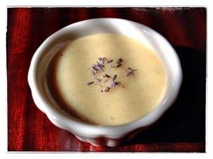 White Chocolate-Lavender Pots de Crème (photo by J. Dizney)