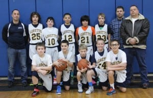 The Our Lady of Loretto Knights CYO sixth-grade basketball team (Photo by C. Donaghy)