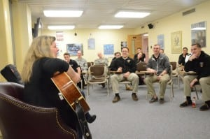 Dar Williams with cadets