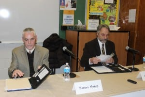 Mayoral candidates Molloy and Merandy.