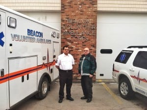 Director Antony Tseng and President Andrew DiLuvio of the Beacon Volunteer Ambulance Corps